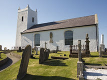 Little white church. An old coastal church in ireland Royalty Free Stock Photos
