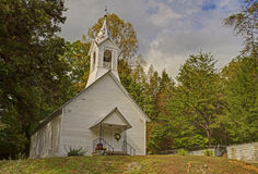 A little white church in Appalachia. Stock Photography
