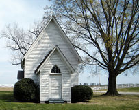 Little White Church Royalty Free Stock Image