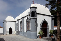 Little, white church on Tenerife Stock Photography