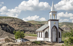 Little white country church. Royalty Free Stock Image