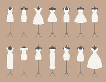 Little white dresses Stock Photography
