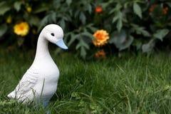 Little white duckling figurine Stock Photos