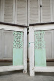 Little white gate of Thai style house Royalty Free Stock Images