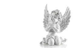 Little white guardian angel. Christmas decoration Royalty Free Stock Photos
