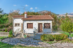 Little white house with a slate roof in Provence Royalty Free Stock Images