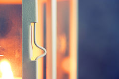 Little white metal latch Royalty Free Stock Image