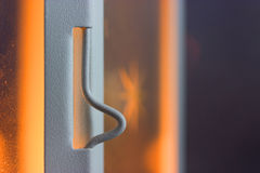 Little white metal latch Stock Images