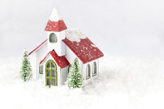 Free Little White Miniature Church With Red Roof. Stock Photos - 80924633