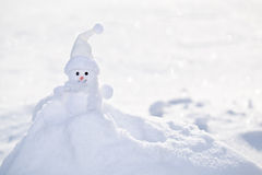 Little white snowman. Stock Image