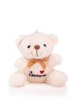 Little white teddy bear Royalty Free Stock Photo