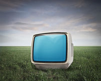 Little White Television Royalty Free Stock Images