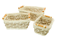 A little  Wicker Baskets Stock Photography
