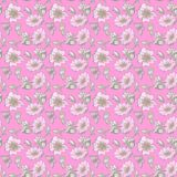 Little wild dog rose seamless background flowers with buds pattern boho style Stock Photo