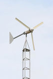 The little wind turbine custom handmade. Royalty Free Stock Image
