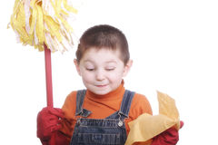 Little winking cleaner Royalty Free Stock Images