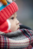 Little winter baby boy Royalty Free Stock Images