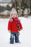 Little winter baby girl Stock Photo