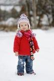 Little winter baby girl Stock Photo