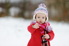 Little winter baby girl Royalty Free Stock Photos