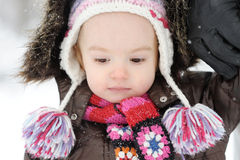 Little winter baby girl Royalty Free Stock Photo