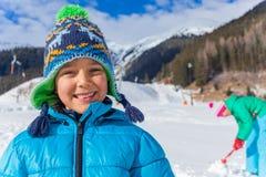 Little winter boy Stock Photography