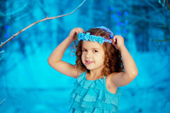 Little winter fairy tale girl Royalty Free Stock Photo