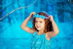 Little winter fairy tale girl Royalty Free Stock Photo