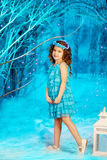 Little winter fairy tale girl Stock Photography