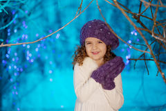 Little winter fairy tale girl Royalty Free Stock Photos
