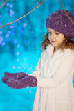 Little winter fairy tale girl Royalty Free Stock Photography