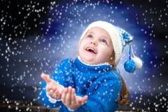 Little winter girl Stock Photos