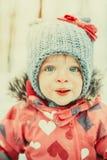 Little winter girl Stock Images