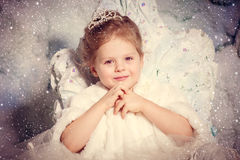 Little winter princess Stock Images