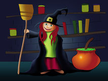 Little witch Stock Photography