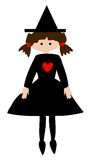 Little Witch. Clip art  graphic of a little witch Royalty Free Stock Photos