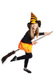 Little witch flying Royalty Free Stock Photo