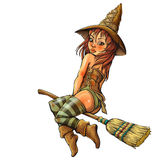Little witch Royalty Free Stock Images