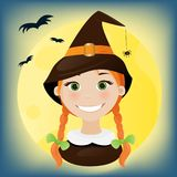 Little witch portrait Stock Photography