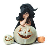Little witch wondered Royalty Free Stock Photo