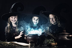 Little witches Stock Photography