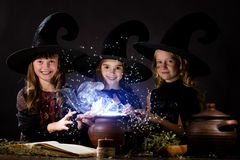 Little witches Royalty Free Stock Photo