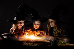 Little witches Stock Photo