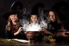 Little witches Royalty Free Stock Image