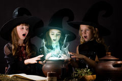 Little witches Royalty Free Stock Photos