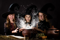 Little witches Stock Photos