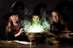 Little witches Royalty Free Stock Images
