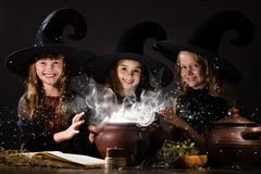Little witches Stock Image