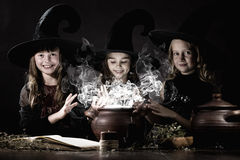 Little witches Royalty Free Stock Photography