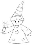 Little Wizard Royalty Free Stock Photography